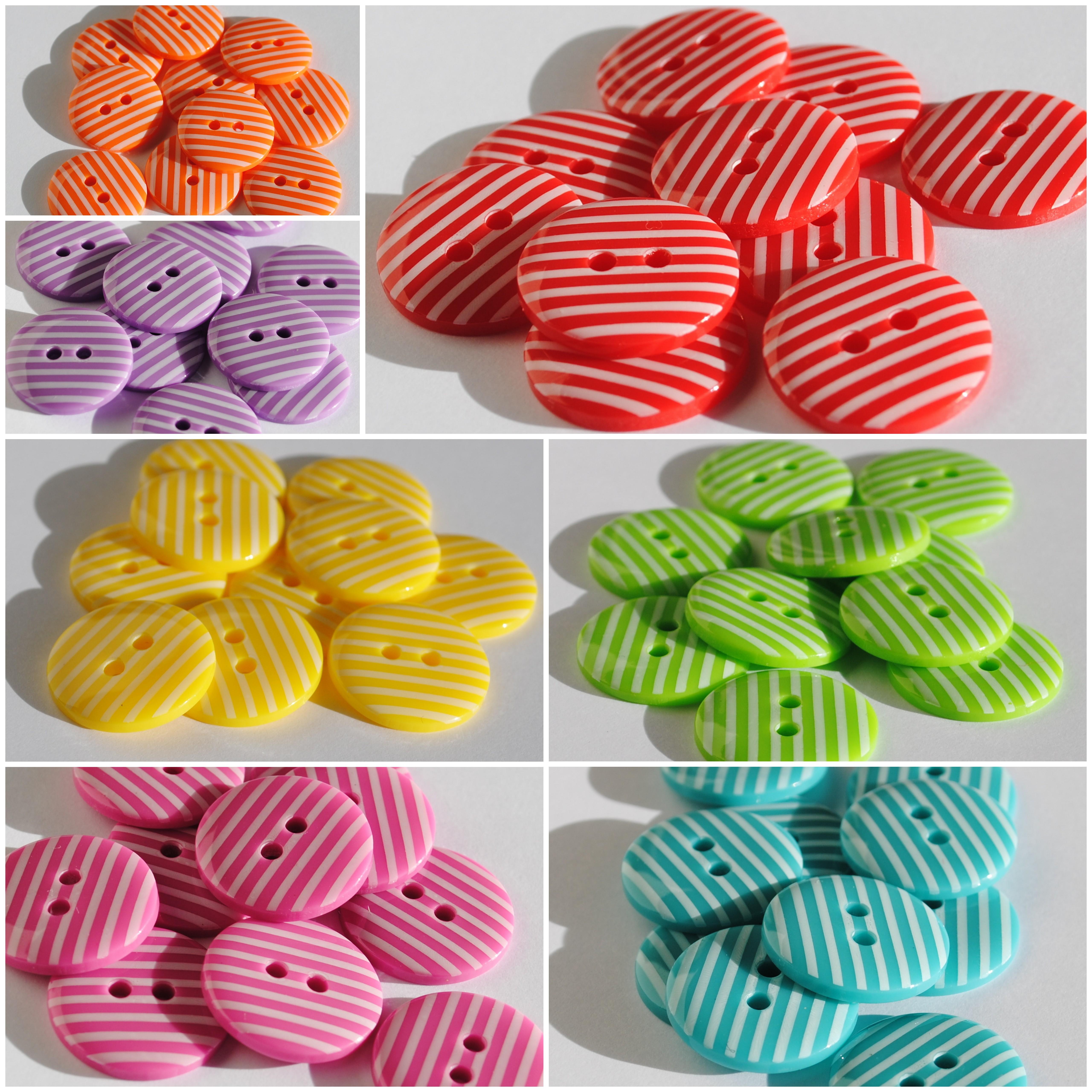 Stripy Buttons | The Felt Fairy