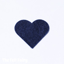 Midnight Felt Square - Wool Blend Felt