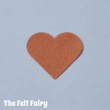 Tawny Rose Felt Square - Wool Blend Felt