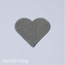 Gun Metal Felt Square - Wool Blend Felt