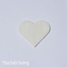 Ivory Felt Square - Wool Blend Felt