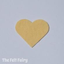 Buttermilk Felt Square - Wool Blend Felt