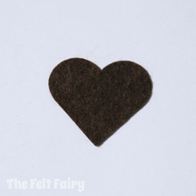 Chocolate Felt Square - Wool Blend Felt
