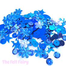 Mixed Sequins - Blue