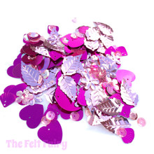Mixed Sequins - Pink