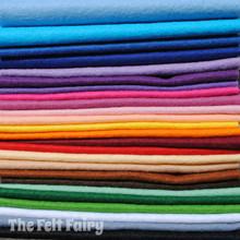 "Starter Pack - 25 x 9"" Squares - Wool Blend Felt"