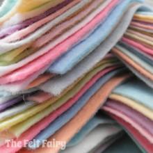 """Pastels 9x4.5"""" 16 Shades - Wool Blend Felt"""