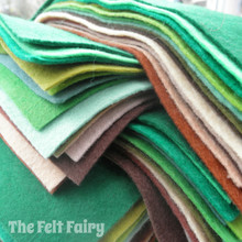 "Forest 9x4.5"" 16 Shades - Wool Blend Felt"