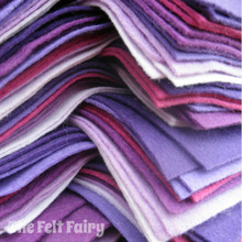 "Purples 9x4.5"" 6 Shades / 12 Sheets - Wool Blend Felt"