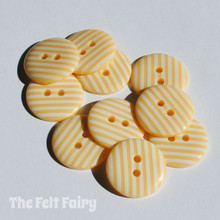 Vanilla Stripy Buttons - 2 Sizes