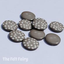 Mushroom Polka Dot Buttons - 12mm - 10 Buttons
