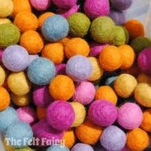 Vintage - Felt Ball Colour Collection
