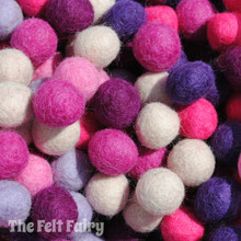 Pinks & Purples - Felt Ball Colour Collection