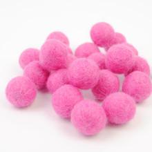 Candy Pink Felt Balls