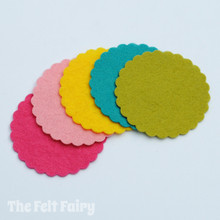 Felt Scalloped Circles