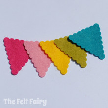 Felt Scalloped Bunting Triangles