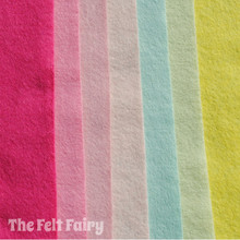 Away With The Fairies - 7 Sheets 7 Shades - Wool Blend Felt