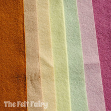 Ice Cream Sundae - 7 Sheets 7 Shades - Wool Blend Felt