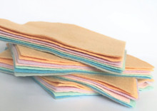 Pastels - 7 Sheets 7 Shades - Wool Blend Felt (Collection 1)