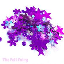 Mixed Sequins - Purple