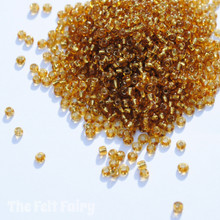 Amber Glass Seed Beads - 20g