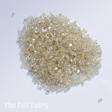 Clear / Silver Lined Glass Seed Beads - 20g