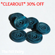 Rose Button - Teal
