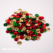 Mixed Cup Sequins - Christmas - Red, Green and Gold