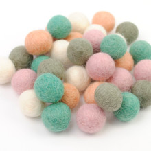 Muted Pastels Felt Ball Collection