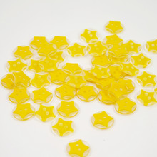 Yellow Star Buttons - 12mm - 10 Buttons