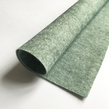 "Mossy Green - Heathered Felt - 50% Wool - 12"" Square"