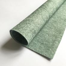 "Mossy Green - Heathered Felt - 50% Wool - 12"" Square"