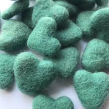 Aqua Wool Felted Heart