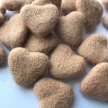 Dusty Peach Wool Felted Heart