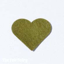 Khaki Felt Square - Wool Blend Felt **Discontinued - Limited Stock**