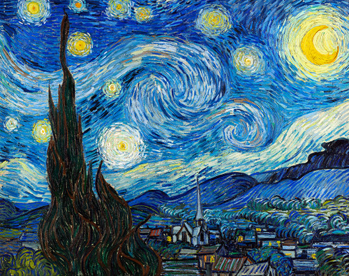 Starry Night Print by Vincent van Gogh