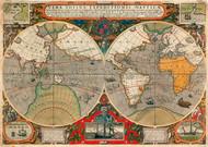 World Map 1595 II Print
