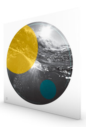 Bondi Waves Yellow Stretched Canvas