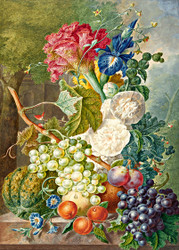 Still Life with Flowers and Fruits
