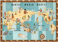 Qantas World Routes 1950