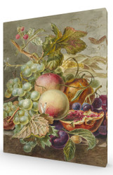 Still Life with Fruit by Jan Evert Morel Stretched Canvas