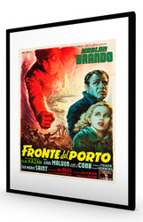 On The Waterfront 1954 (Italian) Black Frame
