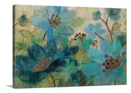Peacock Garden Stretched Canvas