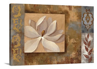 Sunset Flower Stretched Canvas