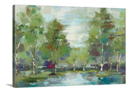 Forest at Dawn Crop Stretched Canvas