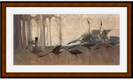 Spirit of the Plains Brown Gold Inlay Frame
