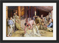 Shearing the Rams Black Gold Inlay Frame