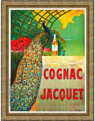 Cognac Jacquet Gold Ornate Frame