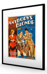 Anybody's Blonde 1931 Black Frame