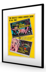 Attack of the Crab Monsters & Not of This Earth 1957 Black Frame
